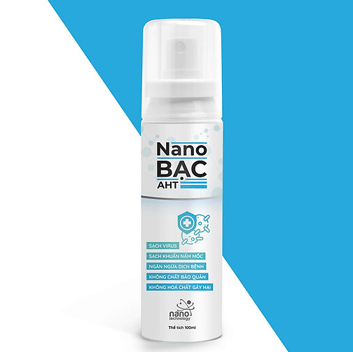 Chai xịt làm sạch virus Nano Bạc AHT 100 ml-Trắng/ Nano Silver AHT Sanitizer Spray 100 ml-White