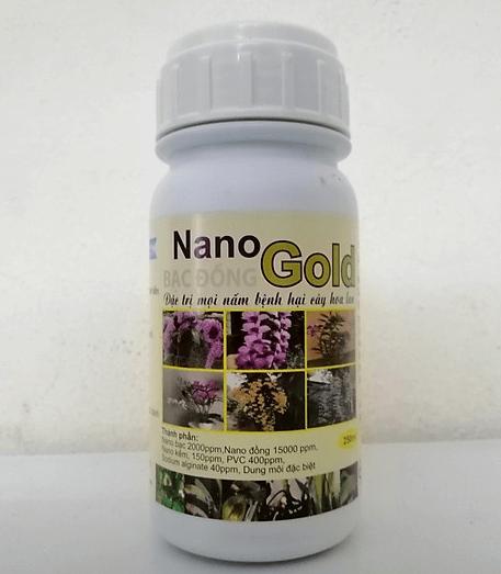 NANO GOLD BẠC ĐỒNG 250ML - CHẾ PHẨM ĐẶC TRỊ NẤM BỆNH CÂY HOA LAN